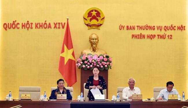 Chủ tịch Quốc hội Nguyễn Thị Kim Ngân phát biểu tại phiên khai mạc. Ảnh: VGP/Nhật Bắc