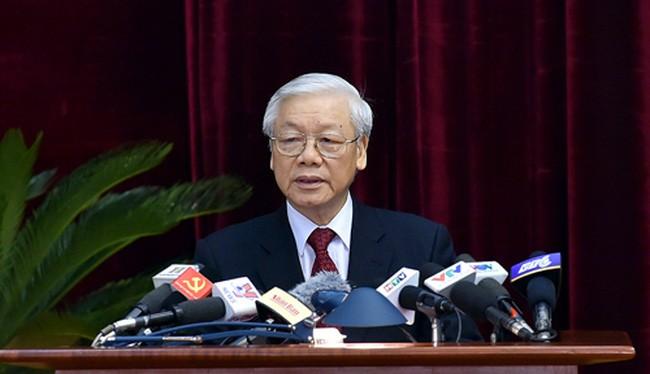 Tổng Bí thư Nguyễn Phú Trọng phát biểu khai mạc Hội nghị Trung ương 6. Ảnh: VGP/Nhật Bắc