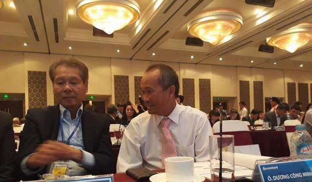 Ông Dương Công Minh tại Đại HĐCĐ thường niên Sacombank năm 2017
