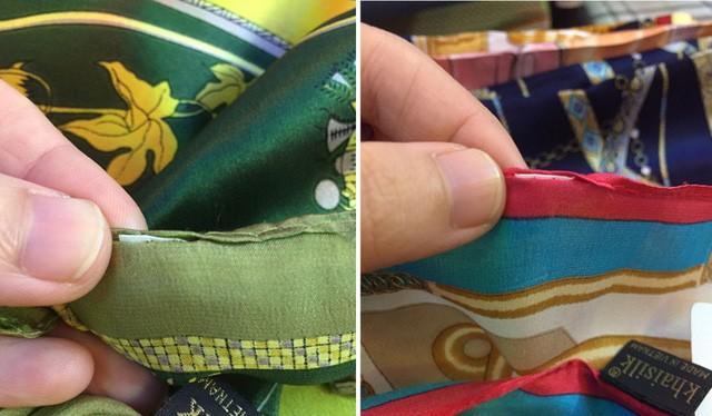 Vụ khăn lụa Trung Quốc bị thay mác đổi tên tại cửa hàng số 113 Khaisilk tại Hà Nội