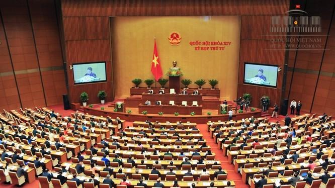 Kỳ họp thứ 4 Quốc hội khóa XIV (Ảnh: Cổng TTĐT QH)