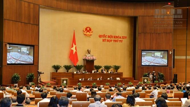 Quốc hội thảo luận về Dự thảo Luật An ninh mạng tại hội trường - Ảnh: QH