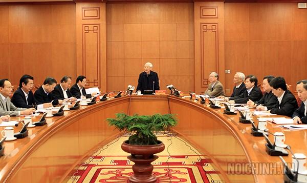 Quang cảnh buổi họp Thường trực Ban chỉ đạo Trung ương về phòng, chống tham nhũng ngày 25/11 - Ảnh: Nội chính