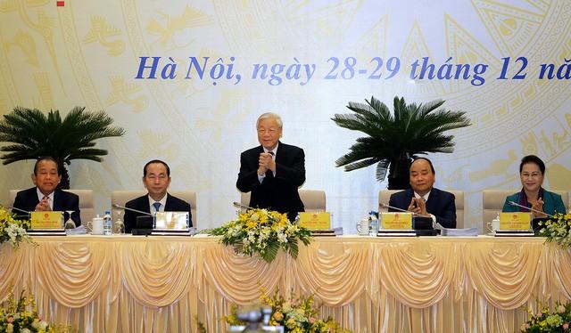 Tổng bí thư Nguyễn Phú Trọng tại Hội nghị trực tuyến của Chính phủ với các địa phương - Ảnh: VGP