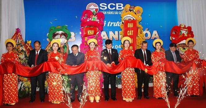 Ảnh khai trương chi nhánh SCB Thanh Hóa