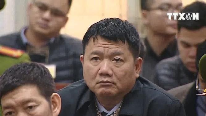 Ông Đinh La Thăng tại phiên tòa ngày 9/1. Ảnh: TTX.
