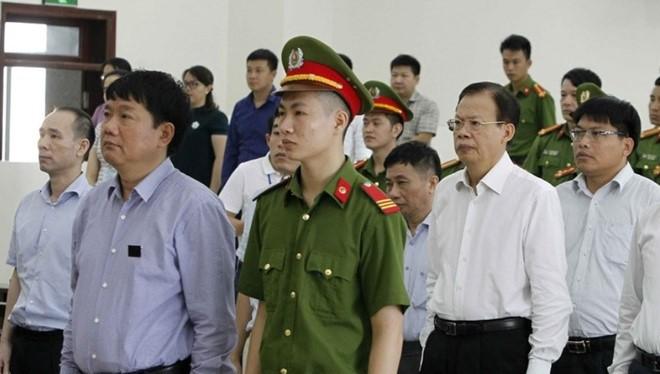Ông Đinh La Thăng tại tòa phúc thẩm - Ảnh: TTXVN