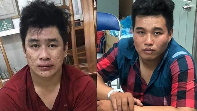 Hai đối tượng Tài và Phú tại Cơ quan CSĐT