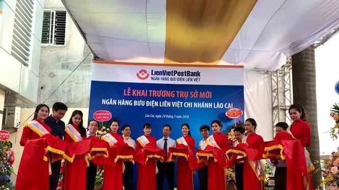 Lễ khai trương trụ sở mới của LienVietPostBank Lào Cai