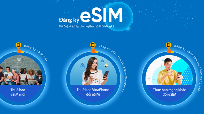 VinaPhone chính thức tiếp nhận đặt trước eSIM online.