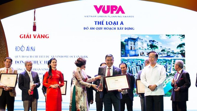 Vingroup cùng lúc đạt 3 giải thưởng ở 3 hạng mục danh giá nhất của Giải thưởng Quy hoạch đô thị Quốc gia