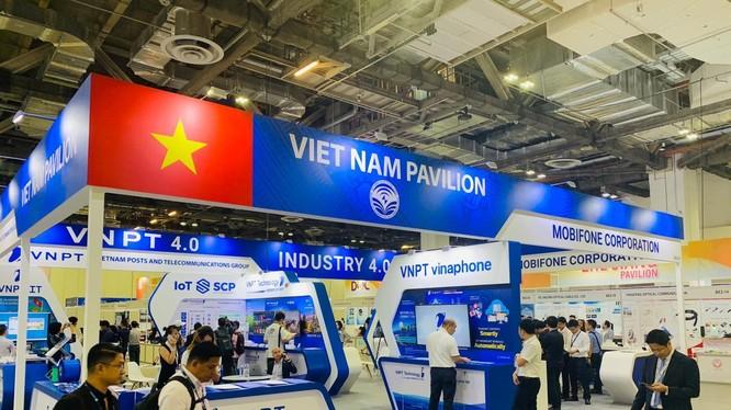 Gian hàng VNPT tại Connect Tech Asia 2019