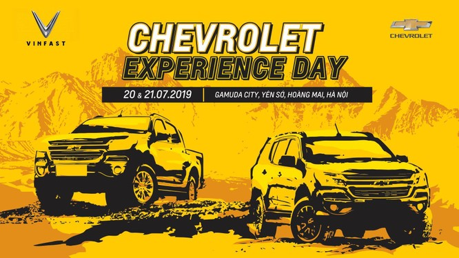 Những người tham gia sự kiện Chevrolet Experience Day sẽ được trải nghiệm hai dòng xe bán tải Colorado và SUV Trailblazer