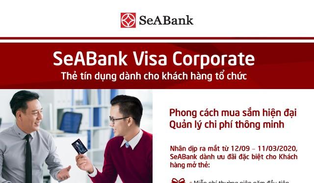 Với thẻ SeABank Visa Corporate, doanh nghiệp có thể thực hiện các giao dịch thẻ như: rút tiền, thanh toán tại POS, thanh toán trực tuyến…
