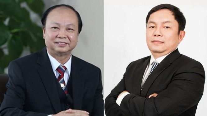Ông Nguyễn Đình Thắng (bên trái) và ông Huỳnh Ngọc Huy (bên phải)