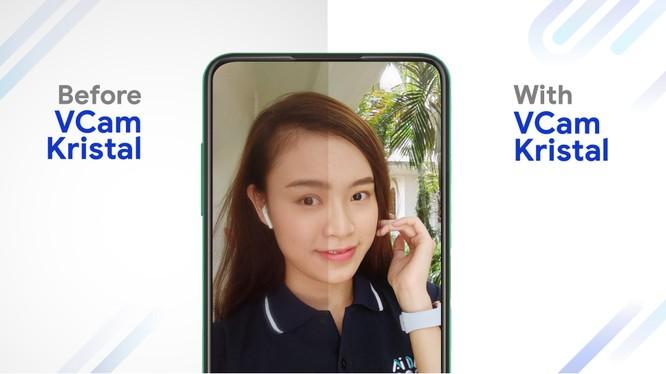 VCam Kristal giúp hiện thực hóa trải nghiệm màn hình vô khuyết trên điện thoại thông minh của VinSmart.