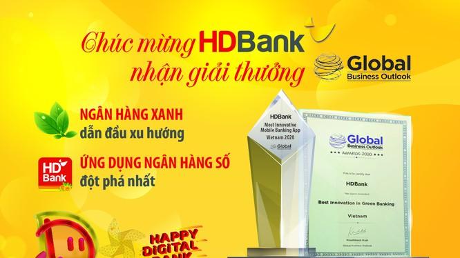 """HDBank ghi điểm cao và đạt danh hiệu """"Ngân hàng xanh dẫn đầu xu hướng"""""""