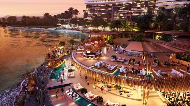 Hình ảnh phối cảnh Beach Club dự án Vega City Nha Trang.