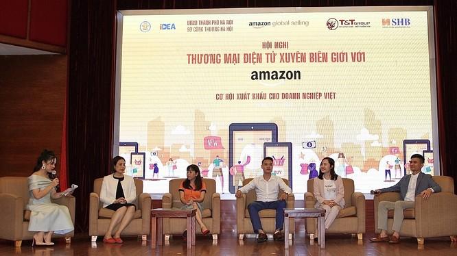 Hội thảo do Sở Công thương Hà Nội, Cục Thương mại điện tử và Kinh tế số (Bộ Công thương), Hiệp hội DNNVV Hà Nội, Amazon Global Selling, Tập đoàn T&T Group và Ngân hàng SHB phối hợp tổ chức.