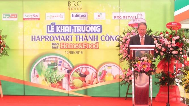 Ông Vũ Thanh Sơn - Tổng giám đốc Hapro phát biểu tại Lễ khai trương