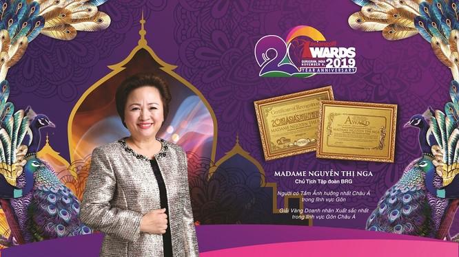 Madame Nguyễn Thị Nga, Chủ tịch Tập đoàn BRG nhận nhiều giải thưởng tại Asian Golf Awards 2019