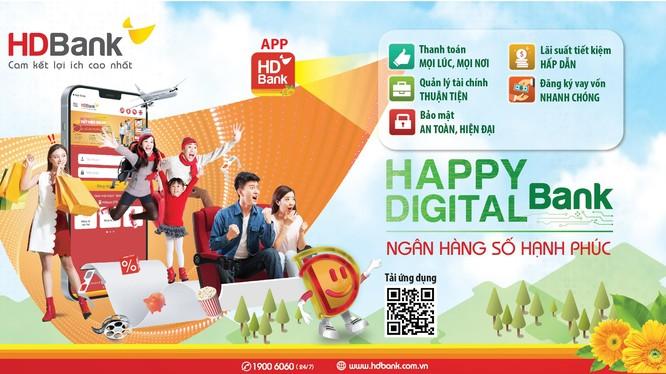 Happy Digital Bank - Ngân hàng số ứng dụng công nghệ hiện đại của HDBank