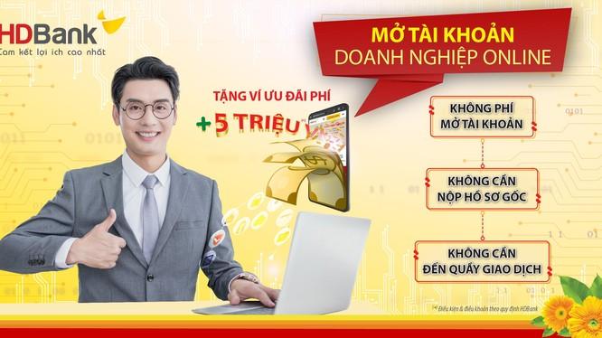 Mở tài khoản doanh nghiệp online với nhiều ưu đãi từ HDBank