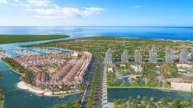 Dòng sông Đơ tại Sầm Sơn sẽ được hồi sinh để hình thành khu đô thị sinh thái nghỉ dưỡng đẳng cấp ven sông (phối cảnh minh họa).