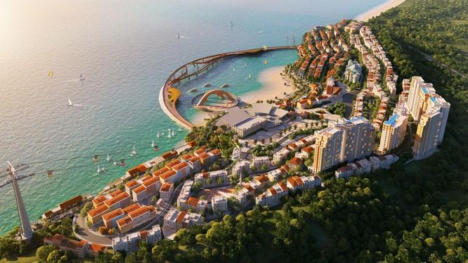 """Tổ hợp """"Thị trấn Địa Trung Hải"""" ở bờ Tây Nam Phú Quốc hút giới đầu tư bất chấp dịch bệnh. (Ảnh phối cảnh, mang tính minh họa)"""