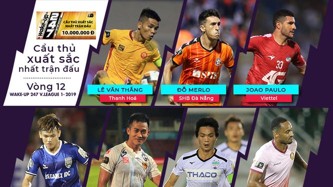7 gương mặt xuất sắc vòng 12 V-League 2019 (ảnh VPF)