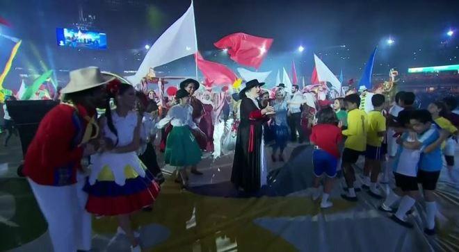 Khai mạc Copa America 2019: Đại tiệc rực rỡ sắc màu (ảnh chụp màn hình)