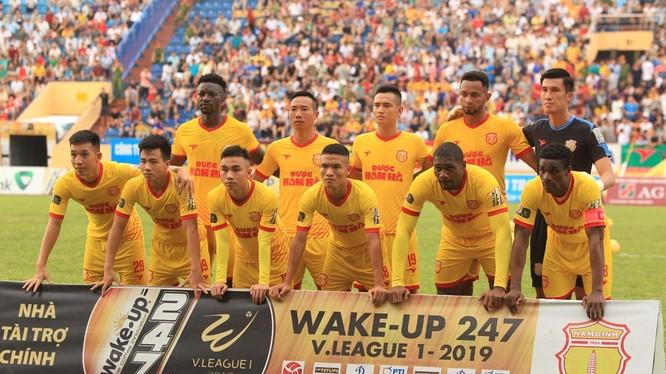 Nếu kết thúc V-League 2019 đội bóng thành Nam đứng vào tốp 10 cũng là thành tích không hề tồi (ảnh VPF)