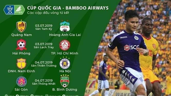 Các cặp đấu tứ kết Cúp quốc gia chỉ là việc nội bộ của các đội V.League 2019, các đội hạng Nhất đã rời cuộc chơi. (ảnh VFF)