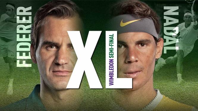 Hai tay vợt hàng đầu thế giới sẽ có lần thứ 40 chạm trán nhau và hiện Nadal đang dẫn 24-15 ở tỷ số đối đầu. (ảnh ATP)