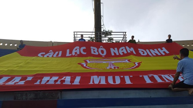 Nam Định- Mãi mãi một tình yêu. Ảnh Hội CĐV Nam Định.