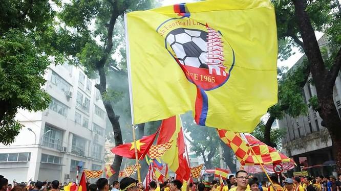 """Nam Định còn có """"sứ mệnh"""" làm cho chặng đua """"về đích"""" V.League 2019 bớt đi sự tẻ nhạt. Ảnh NĐFC"""