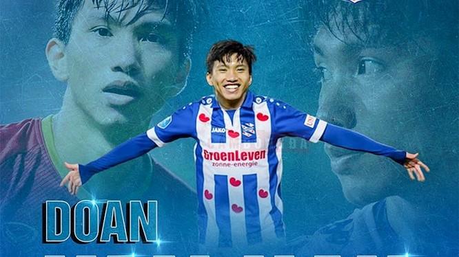 Hậu vệ trẻ Đoàn Văn Hậu đầu quân cho SC Heerenveen, đội bóng đang thi đấu tại Giải vô địch quốc gia Hà Lan - Eredivise. Ảnh CLB
