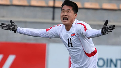 U23 Triều Tiên là đội giành vé đầu tiên sau vòng loại tham dự VCK U23 châu Á 2020. Ảnh AFC