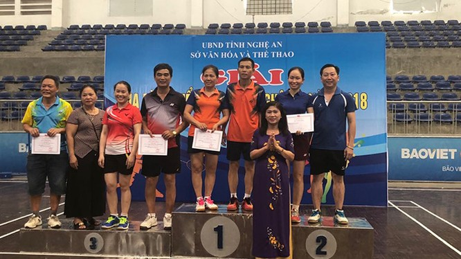 Đại hội Thể thao toàn quốc lần thứ VIII năm 2018, đoàn Thể thao Nghệ An giành được 8 HCV, 9 HCB và 21 HCĐ, xếp thứ hạng 19/65. Ảnh TTXVN