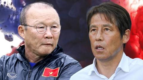 HLV Nishino Akira và Park Hang-seo, hai ông thầy hàng đầu khu vực lại có màn tái đấu. Ảnh AT