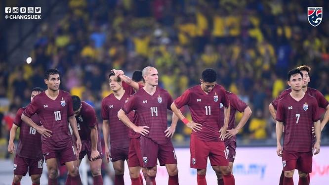 Thái Lan đang lâm vào tình thế cực kỳ bất lợi trước trận đối đầu với Việt Nam, họ buộc phải thắng nếu không muốn sớm rời cuộc chơi. Ảnh FAT