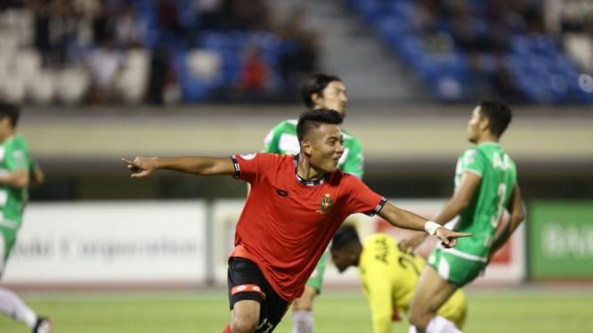 Tiền đạo trẻ Hakeme Yazid Said, thần đồng bóng đá Brunei. Ảnh AFC.