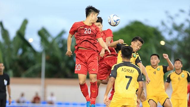 Chúng ta đã thắng đậm U22 Brunei 6-0 ngày ra quân. Ảnh Đức Cường