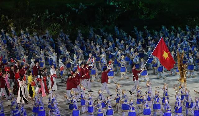 """""""Vua kiếm"""" Đông Nam Á sẽ lần thứ 5 vinh dự cầm đại kỳ dẫn đoàn thể thao Việt Nam. Ảnh màn hình."""