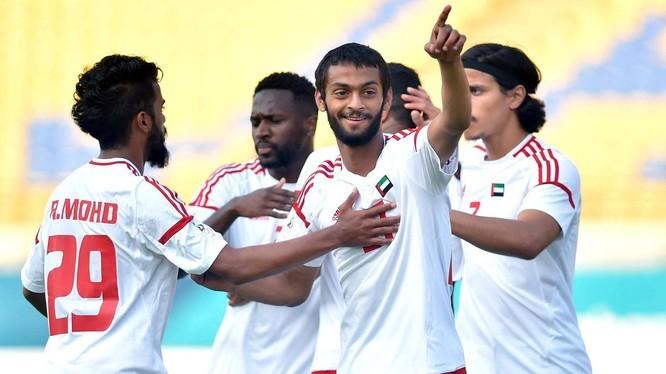 U23 UAE đang tập huấn ở Singapore. Ảnh Fox