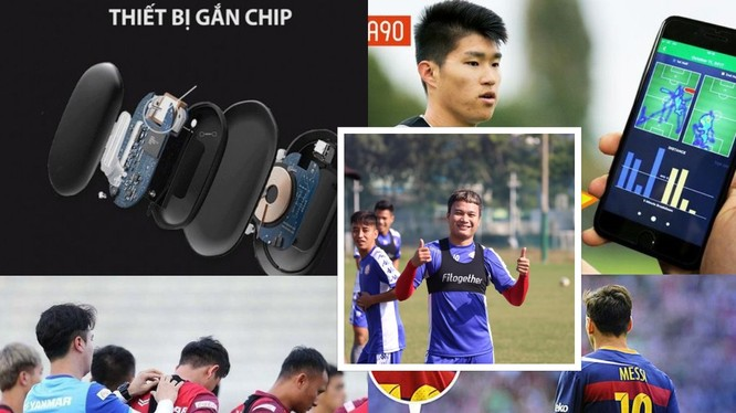 Áo gắn chíp của cầu thủ Việt Nam. Ảnh AT