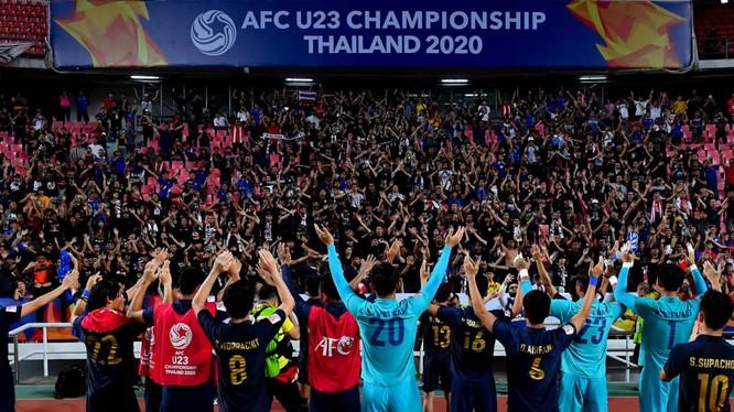 U23 Thái Lan lần đầu tiên có mặt tại tứ kết vòng chung kết U23 châu Á. Ảnh AFC