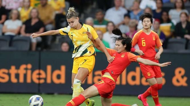 Hòa nữ Trung quốc 1-1, Australia giành ngôi đầu bảng B. Ảnh AFC.