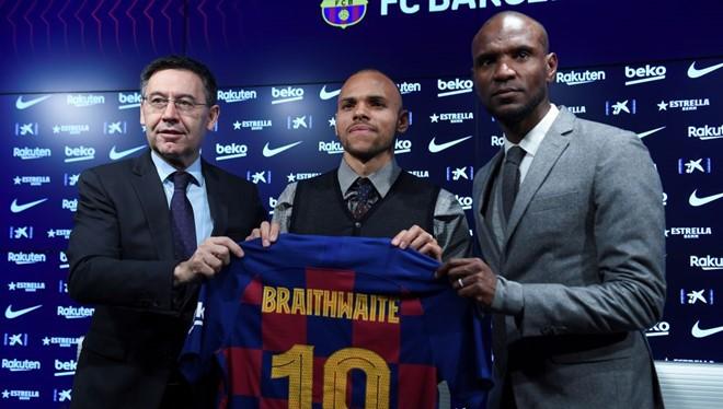 Barca đã chồng đủ 18 triệu euro để giải phóng hợp đồng của Martin Braithwaite với CLB Leganes. Ảnh Barca.