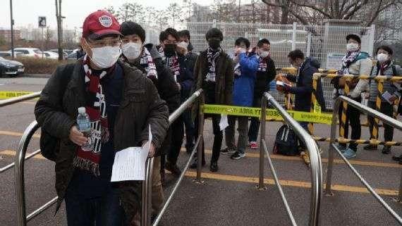 Giải J1 League của Nhật Bản được khai mạc ngày 23/02, trong tình trạng virus Corona đang lây lan nhanh. Ảnh Vissel Kobe.